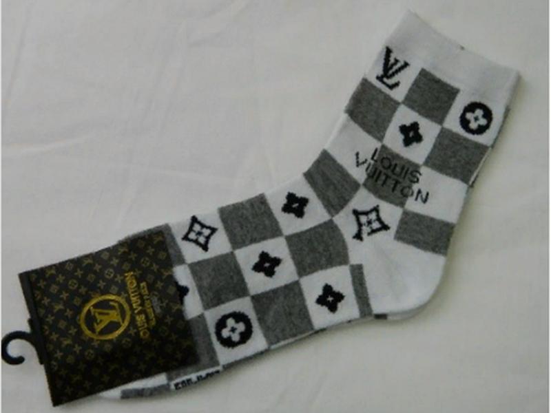 Мужские носки белые LOUIS VUITTON