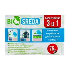 """Биоактиватор """"BIOSREDA"""" 3 в 1 для септиков, выгребных ям, дачных туалетов и компоста"""