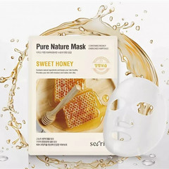 Маска для лица тканевая ANSKIN Secriss Pure Nature Mask Pack-Sweet honey 25 мл