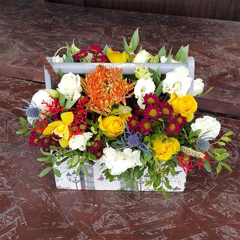 Ящик с цветами Экзотика