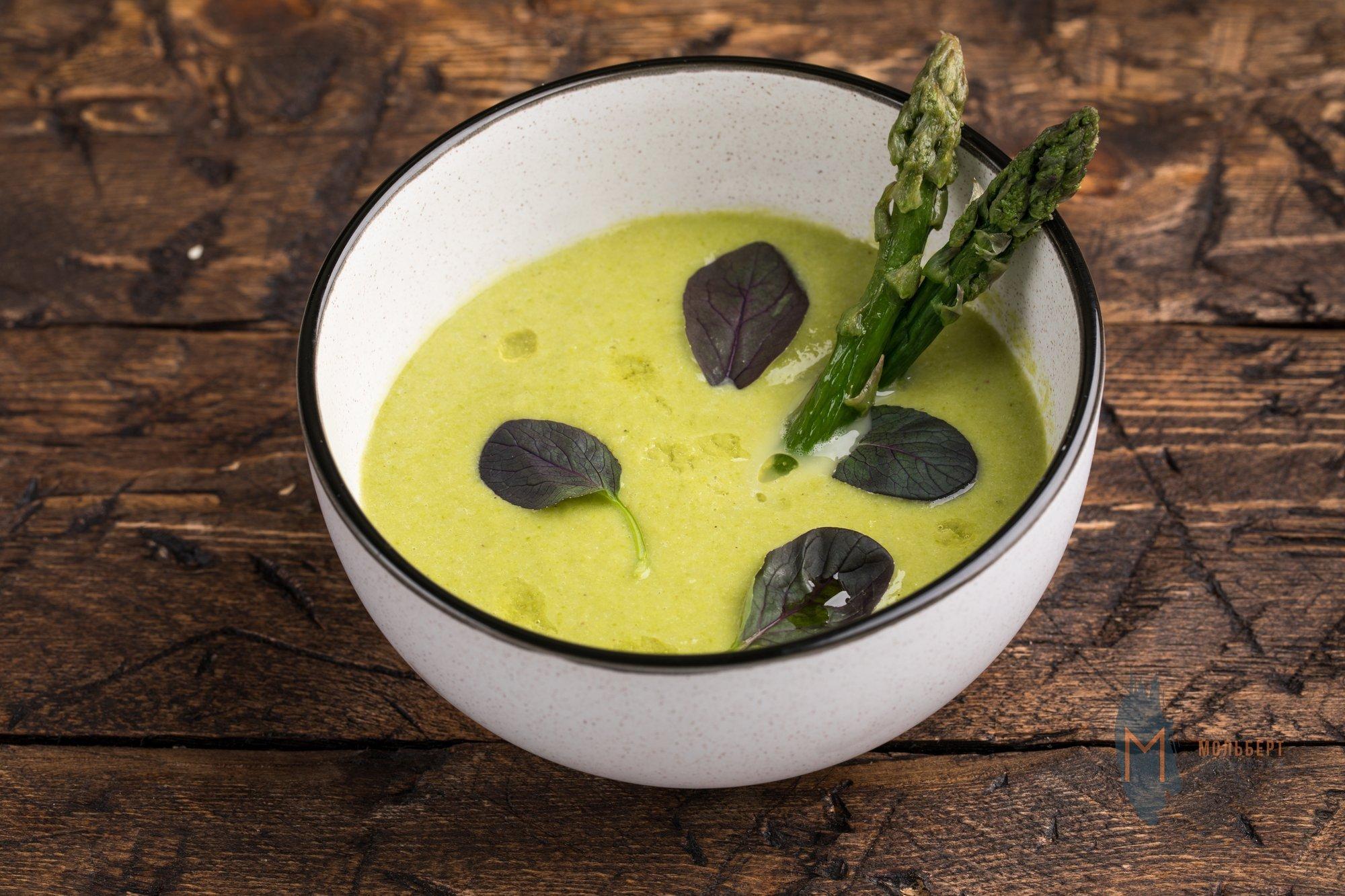Суп из зеленой спаржи