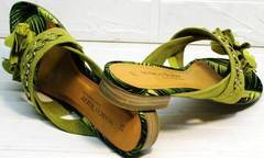 Удобные сандалии шлепки на низком ходу Marco Tozzi 2-27104-20 Green.
