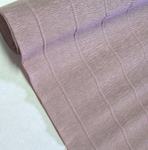 Бумага гофрированная, цвет 604 кварцевый, 180г, 50х250 см, Cartotecnica Rossi (Италия)