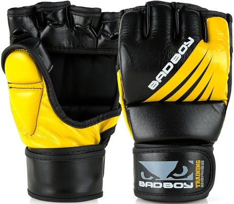Перчатки для ММА Bad Boy Training Series Impact With Thumb Black/Yellow&