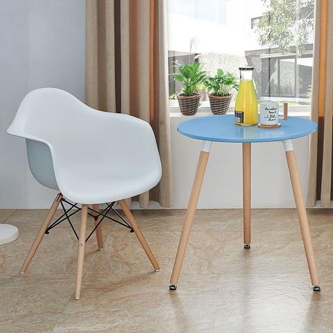 Стол DT-903  синий и стул ESF 982 белые