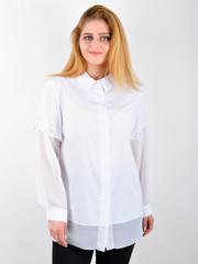 Нури. Весенняя блуза плюс сайз. Белый.