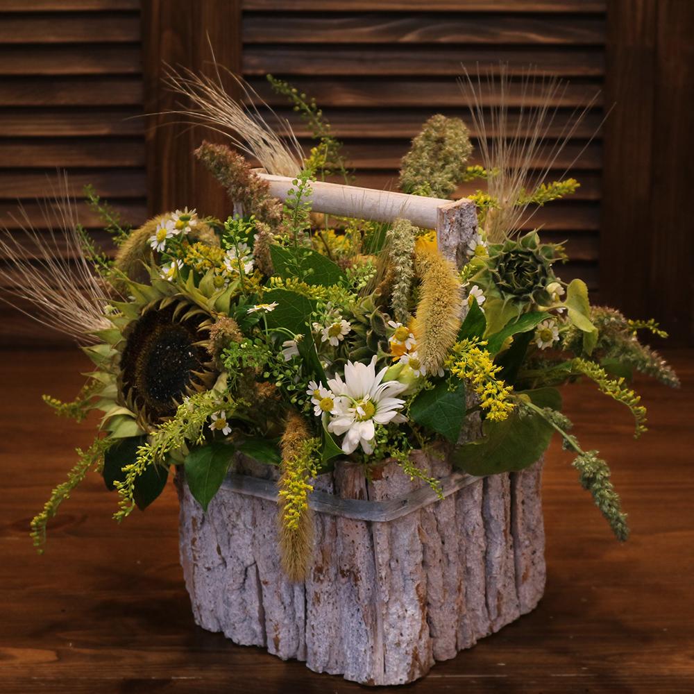 Осенняя композиция декор сухоцветы Пермь заказать
