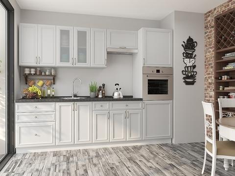 Кухня Шале-2 белый, milk oak
