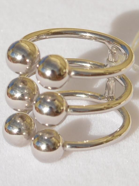 Шарики 3*2 (кольцо из серебра)