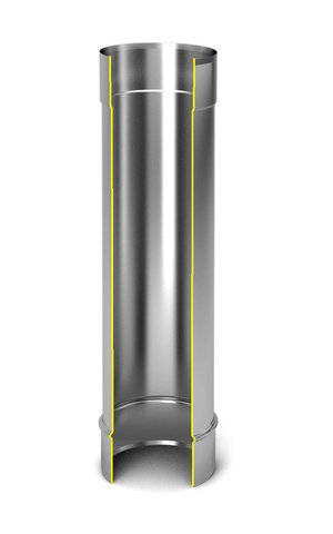 Модуль дымохода «Супер», Ø200, 0,5м, 1мм