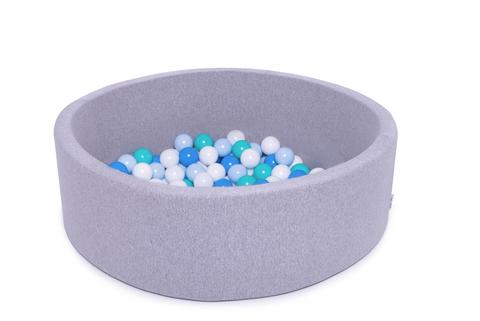 Сухой бассейн Anlipool 100/30см серый комплект №60 Blue set