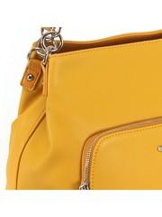 Сумка жёлтая с карманом на молнии
