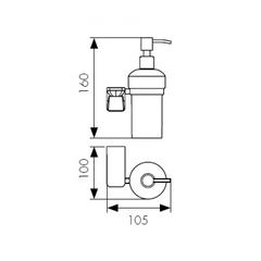 Дозатор для жидкого мыла настенный Kaiser Glory BR KH-4510 схема