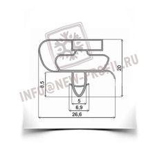 Уплотнитель   для стола охлаждаемого Tefcold (размер по пазу)  Размер 60*46 смПрофиль 021