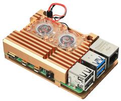 Корпус для Raspberry Pi 4 с вентиляторами (LT-4B02 / алюминий)