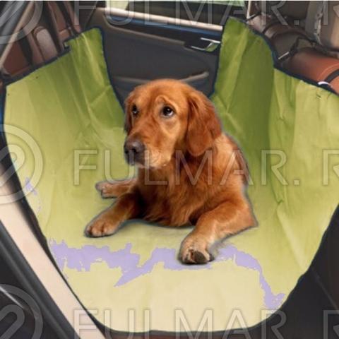 Непромокаемый автогамак для перевозки собак и кошек в автомобиле 142х128 см Хаки
