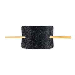 Balmain Hair Заколка со шпилькой Черные Кристаллы Сваровски