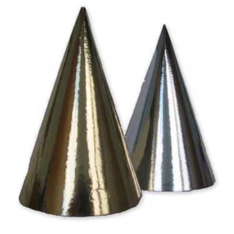 Колпак фольгированный золото/серебро 8 штук