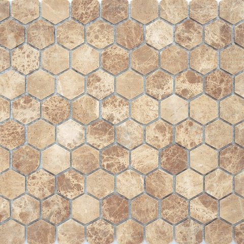 Мозаика Emperador light MAT hex 18x30x6 285х305