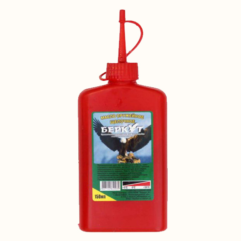 Масло оружейное щелочное (щелочной состав) «Беркут» в масленке 150 мл