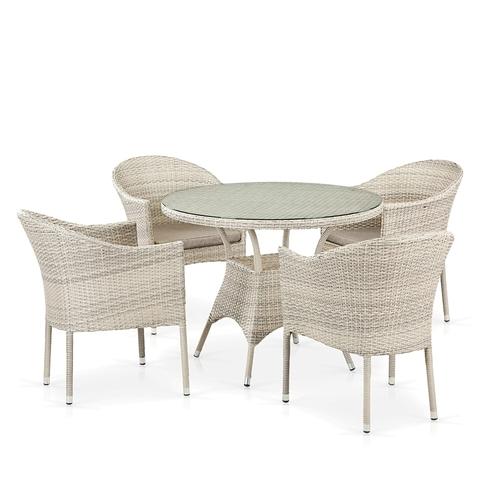 Комплект плетеной мебели T190A/Y350A-W85-D90 Latte 4Pcs
