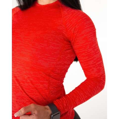 Рашгард женский MAXI PERFORATION RASHGUARD RED