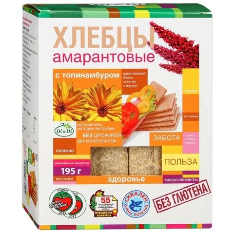 Хлебцы амарантовые с топинамбуром, 195 гр. (Ди энд Ди)