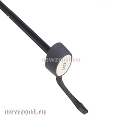 Плоский мини зонт Zest 45510 черный 5 сложений