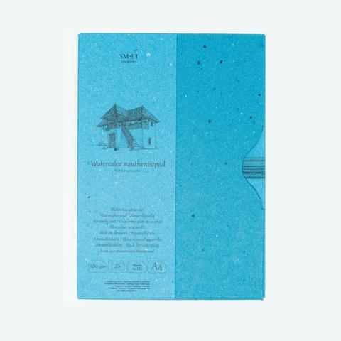 Альбом SM-LT Watercolor Authentic, A4, 35 л., склейка в папке