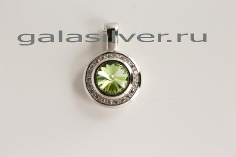 Подвеска с кристаллом Сваровски и цирконом из серебра 925