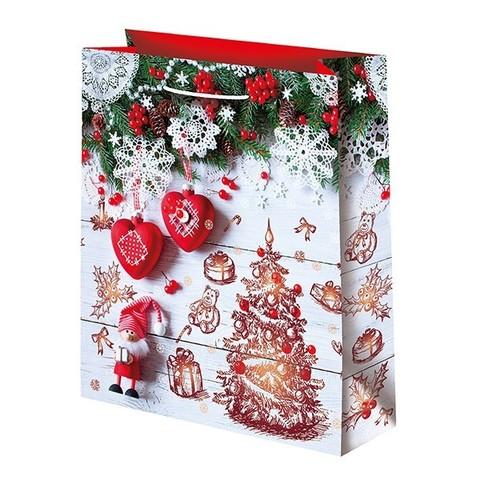 Новогодний подарочный пакет Елочка (средний)