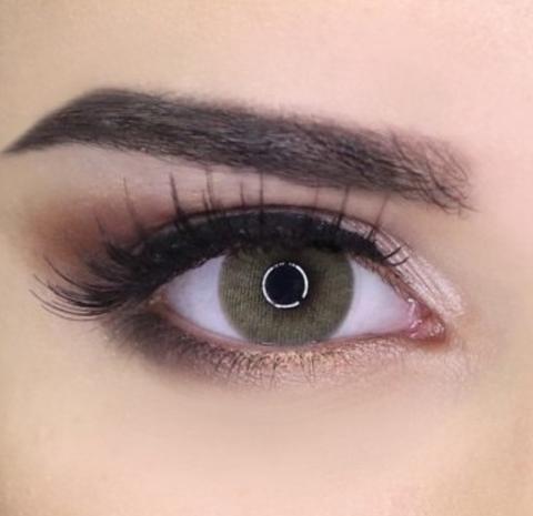 Цветные линзы для карих глаз Medeo lenses giallo