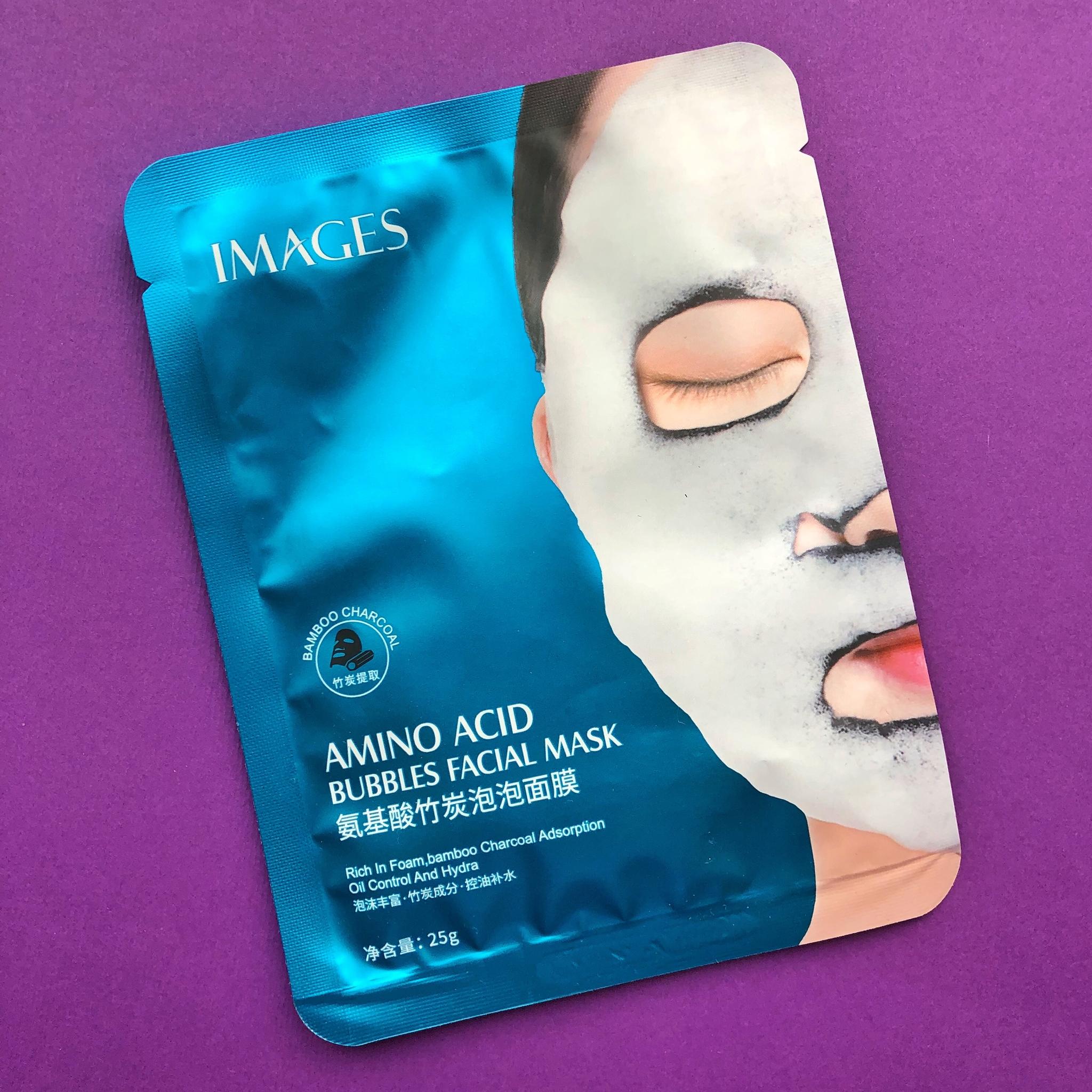Тканевая пузырьковая маска IMAGES с добавлением бамбукового угля