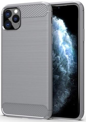 Чехол iPhone 11 Pro Max цвет Gray (серый), серия Carbon, Caseport