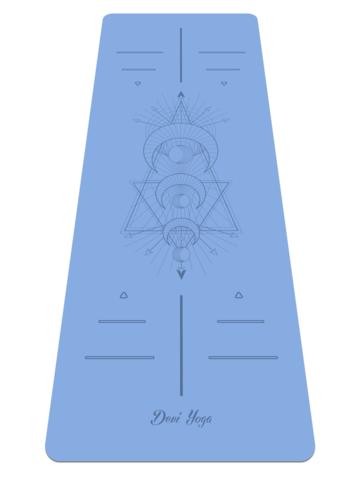 Каучуковый йога коврик Young Moon с разметкой 185*68*0,4 см