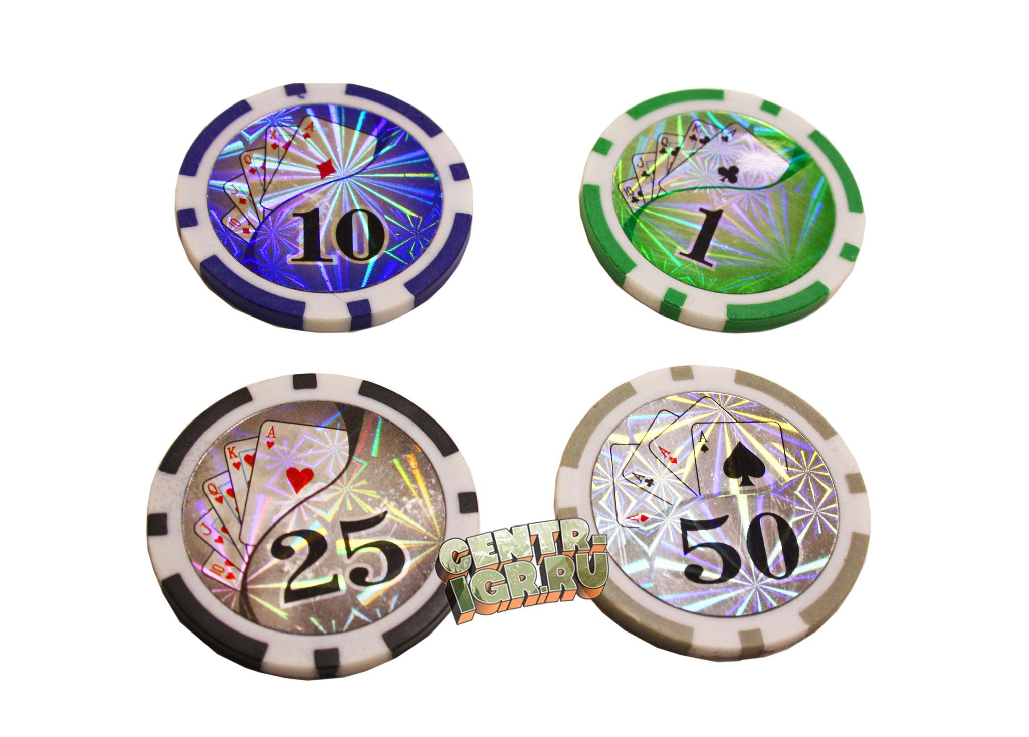 Покерный набор Royal flush 100 фишек - ФИШКИ