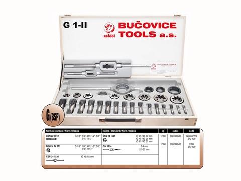 Набор метчиков и плашек Bucovice G1-II NO/CS G1/8