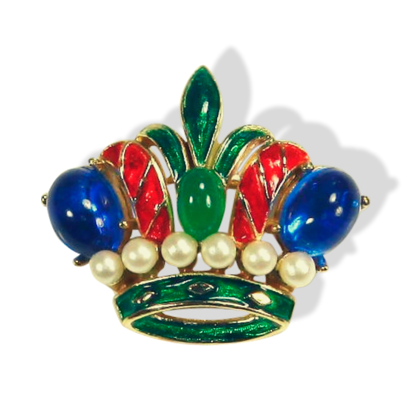 """Очаровательная брошь """"Корона"""" из коллекции миниатюр от Trifari"""