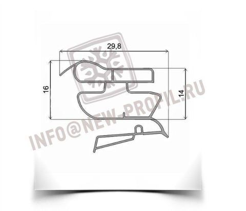 Уплотнитель 101*57 см для холодильника Индезит BIHA 20 (холодильная камера)  Профиль 022
