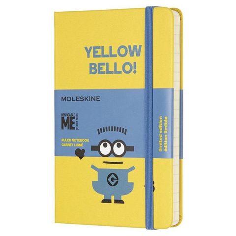 Блокнот Moleskine Limited Edition MINIONS LEMI01MM710M10 Pocket 90x140мм 192стр. линейка желтый