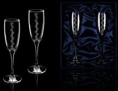 Подарочный набор бокалов для шампанского «Бриллиантовый», фото 1