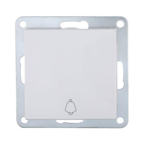 Выключатель-кнопка одноклавишный (схема 1Т) 10 A, 250 В~. Цвет Белый. LK Studio LK80 (ЛК Студио ЛК80). 840504