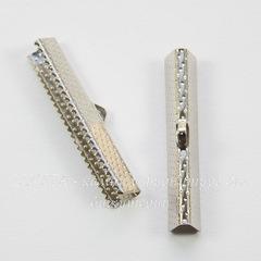 Концевик для лент 35 мм (цвет - платина), 4 штуки