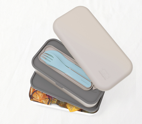 Набор из 3 столовых приборов в футляре Monbento Pocket, голубой