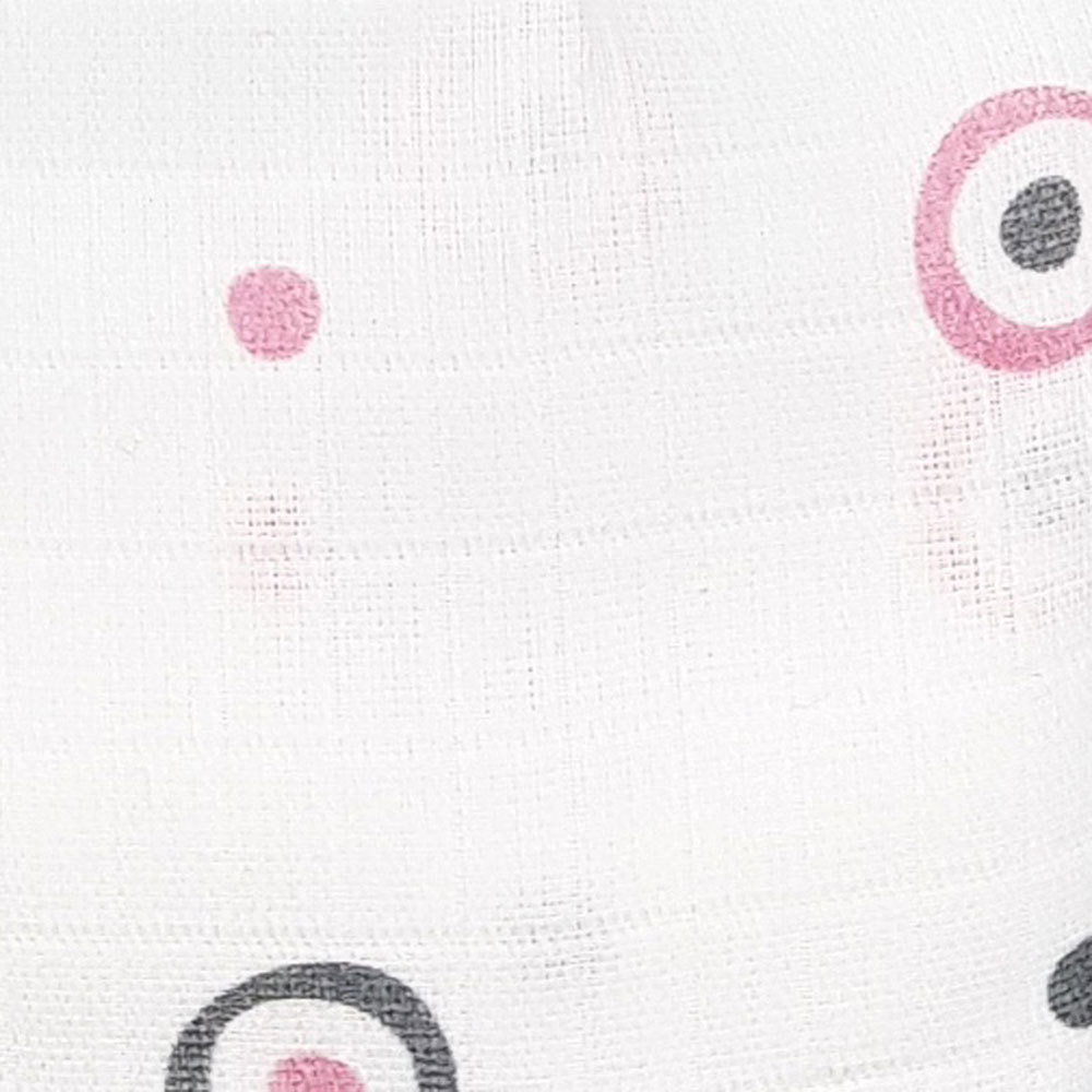 Пеленка для девочки муслиновая Adam Stork Pink Circles 2