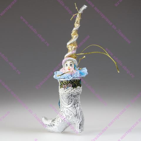 Гном-башмак - елочная игрушка