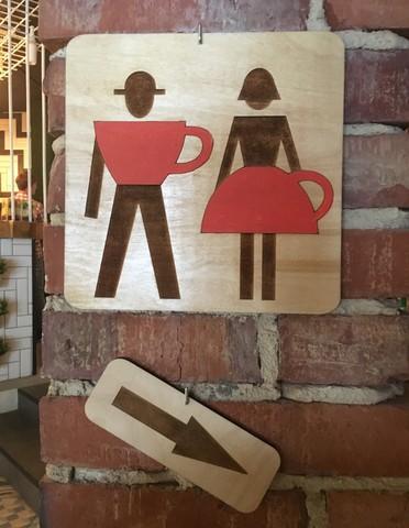 Таблички из фанеры для туалета