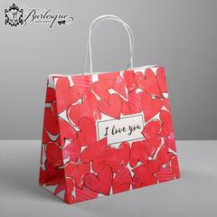 Пакет подарочный «Сердечки»