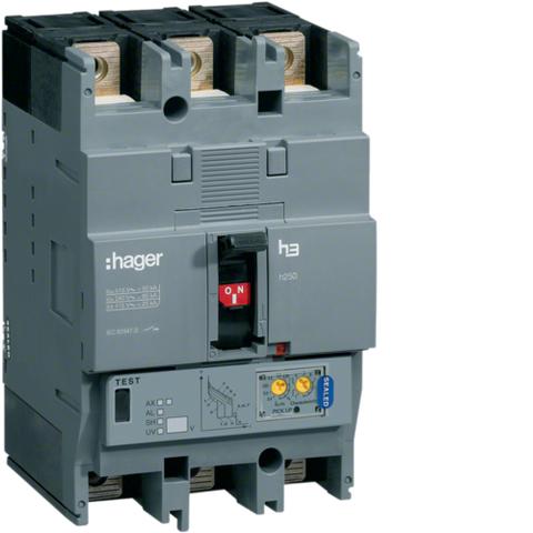 Выключатель автоматический, h250, электронный расцепитель, LSI, 3P3D Icu=50kA при Ue=415В, Ir=250-100A, Ue до 690В 50/60 Гц