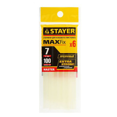 Стержни клеевые STAYER Master, прозрачные, D7 х 100 мм, 6 шт